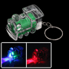 Green Clear Train Design Mini Flashlight Torch Keyring Key Chain