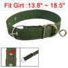 3.5cm Wide Green Nylon Band Adjustable Pet Dog Collar Neck Strap