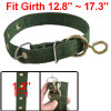 "Pet Dog Single Prong Metal Buckle Green Nylon 12.8""-17.3"" Girth Collar Strap"