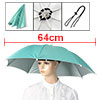 Handfree Baby Blue Foldable Fishing Umbrella Hat Headwear