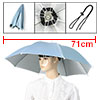 Polyester Umbrella Hat Headwear for Fishing Light Blue