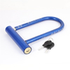 Blue Black Plastic Coated Bike Motorcycle Security U Lock w 2 Key...