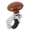 Car Power Handle Steering Wheel Knob Clamp Suicide Grip Spinner Brown