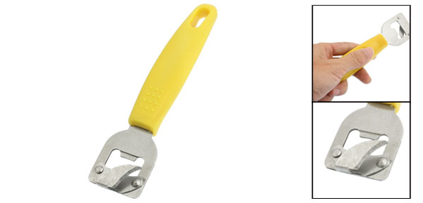 Yellow Plastic Handle Restaurant Home Tin Can Bottle Wine Beer Bottle Opener