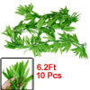Home Decor Green Artificial Weeping Willows Leaf Hanging Vine 6.2...