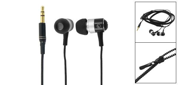 3.5mm Jack Soft Silicone Earbuds Black In Ear Earphone