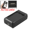 2 Flat Pin USB Port Battery Home Office Wall Charger for HTC Desire C/A320E