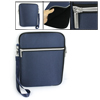 Royal Blue Foam Nylon Zipper Closure Bag Case for iPad 1 2 3