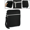 Dual Pocket Black Zip up Carrying Bag w Strap for iPad 1 2 3
