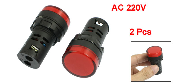 2 Pcs AD16-22D/S31 Energy Saving LED Indicator Signal Light AC 220V