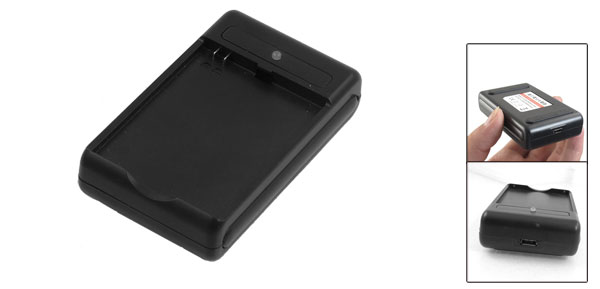 Black Plastic Battery Desktop Charger for Nokia BL-4D