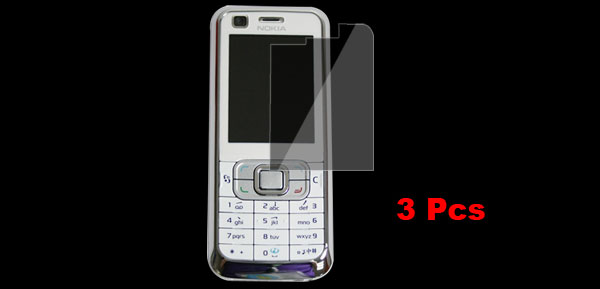3 Pcs Clear Plastic LCD Screen Protector Film for Nokia 6120