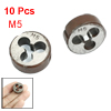 M5 20mm External Dia Coarse Thread Tool Circular Screw Die 10Pcs