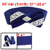 Lady Blue White Bowknot Decor Rhinestones Inlaid Stretchy Cinch W...