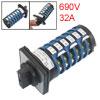 AC 690V 32A 10 Position 24 Screw Terminals Rotary Cam Changeover ...