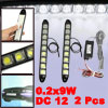 0.2x9W 9 LED Adhesive Strob Flash Daytime Running Front Fog DRL D...