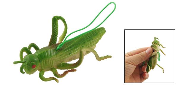 Green Silicone Simulation Grasshopper Toy Oranment Pendant