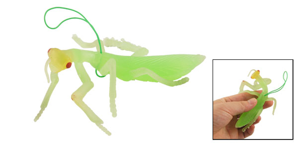 Soft Green Silicone Artificial Mantis Shaped Toy Decor Pendant