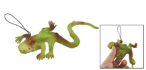 Soft Green Silicone Emulational Lizard Shaped Toy Decor Pendant