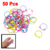 Lady Plastic Elastic Hearts Shape Beads Decor Band Hair Tie Color...
