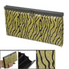 Gold Tone Black Zebra Prints Rectangle C...