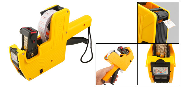 Supermarket Helper Yellow Plastic Shell Price Labeller Tag