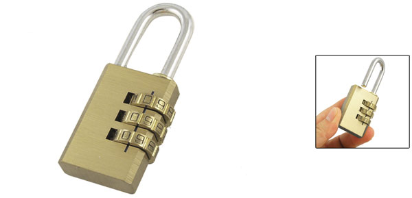 Gold Tone Metal Digital Resettable Safety Combination Code Password Lock