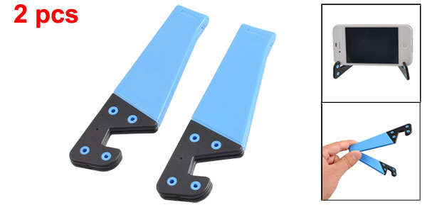 2 Pcs Adjustable Plastic Bracket Holder Black Blue for Phone