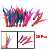20 x Red Rubber Head Colorful Manmade Goose Feather Beach Badmint...