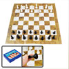 28cm x 28cm Brown White Paper Plastic International Chess Set