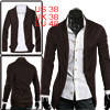 Men Coffee Color Stylish Stretch Open Fr...
