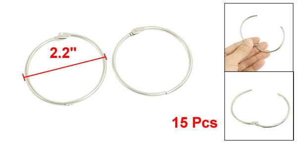 15 Pcs Silver Tone 2.2