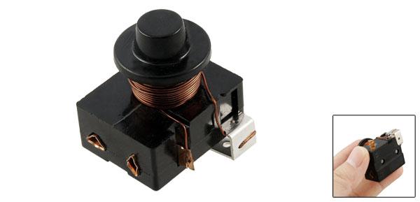 Black Plastic Housing Compressor Relay Starter for 1/3 HP Refrigerator