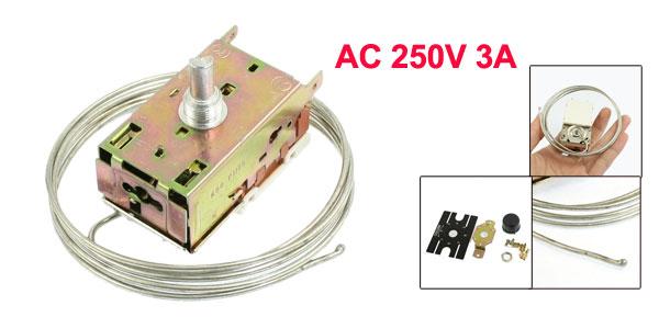 AC 250V 3A 2 Terminals Refrigeration Temperature Controller for Refrigerators K50-P1125