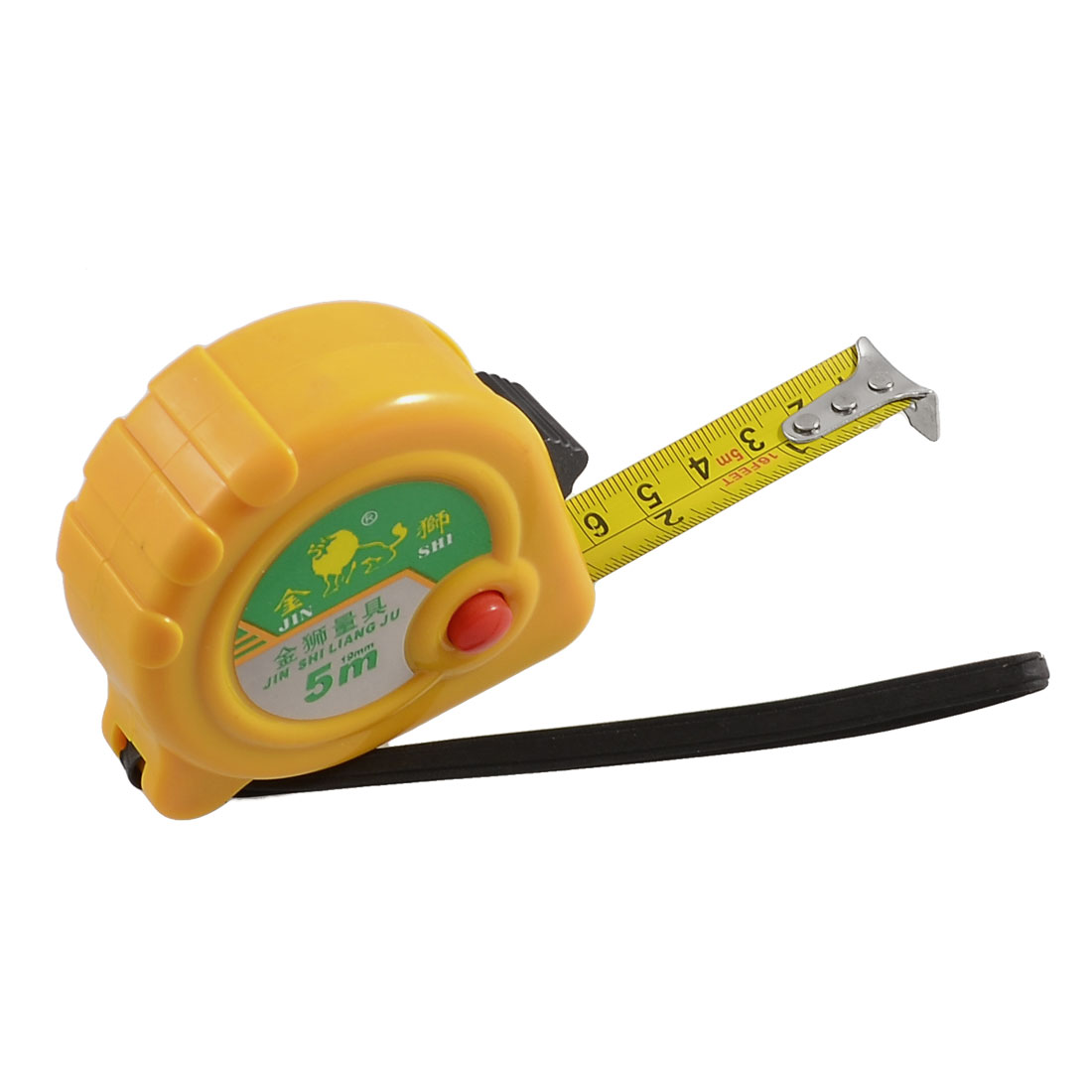 5-Meters-16-Ft-Length-Locking-Measuring-Tape-Ruller-w-Hand-Strap