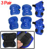 Skating Palm Elbow Knee Protector Blue Black for Children 3 Pair