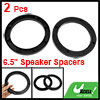 "Vehicle Car Truck Black 6.5"" Plastic Speaker Spacers 14mm Depth 2 Pcs"