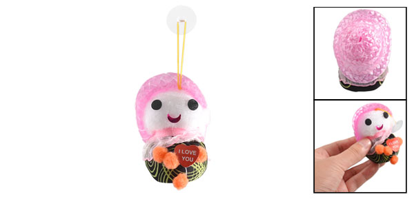 Pink Scarf Orange Feet Shake Noise Straw Hat Hatted Baby Doll Toy