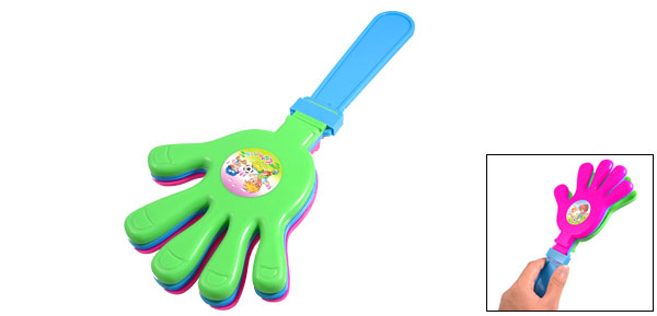 Fans Cheer Magenta Green Blue Plastic Noisemaker Hand Cheering Clacker