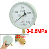 0-0.16MPa 20mm Thread Diameter Round Face Water Air Pressure Gaug...