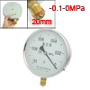 Class 1.6 -0.1-0MPa 20mm Thread Diameter Water Air Pressure Gauge