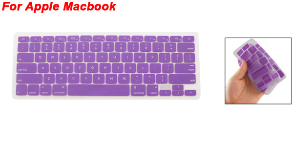 Purple Silicone Anti Dust Cover Skin Keypad Film for Apple Macbook Pro