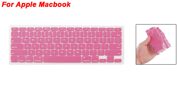 Fuchsia Soft Silicone Keyboard Protective Film Cover for Apple Macbook Pro
