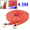 Elastic Flat Tighten Luggage Cable Strap Rope Red Yellow 4.5M for...