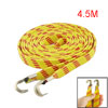 Bicycle Bike 2 Hooks Striped Flat Stretch Luggage Rope Cord Yello...