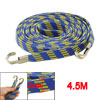 Elastic Flat Nylon Coated Cable Strap Rope 4.5M Blue Yellow for M...