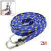 Bicycle 2 Hooks Striped Stretch Blue Yellow 6.5ft Long Luggage Ro...