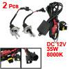 35W 8000K Car HID Xenon H4 Headlight Bulbs 2 Pcs + Wiring Harness...