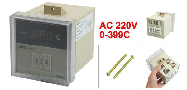 AC 220V Screw Mount Digital Temperature Controller Regulator 0-399C