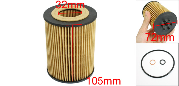 Cartridge Oil Filter w Gaskets Seal Ring for BMW 500 600 700 Series Alpina B7